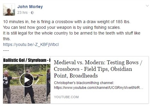 EDL crossbow arm to teeth