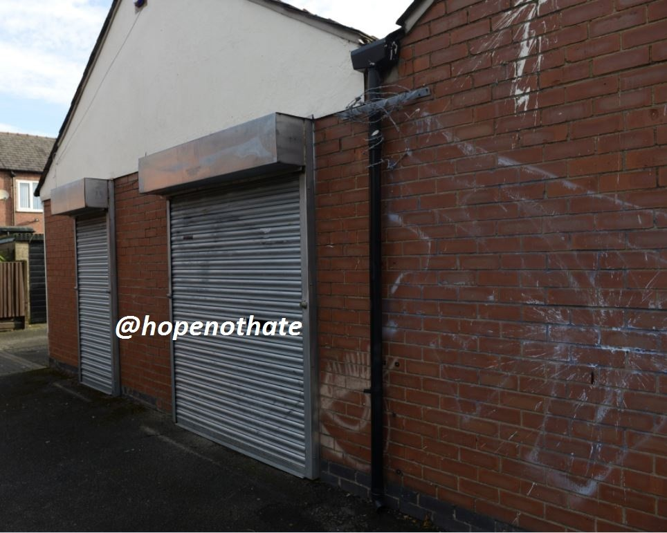 a picture of a derelict-looking warehouse in Warrington, Cheshire