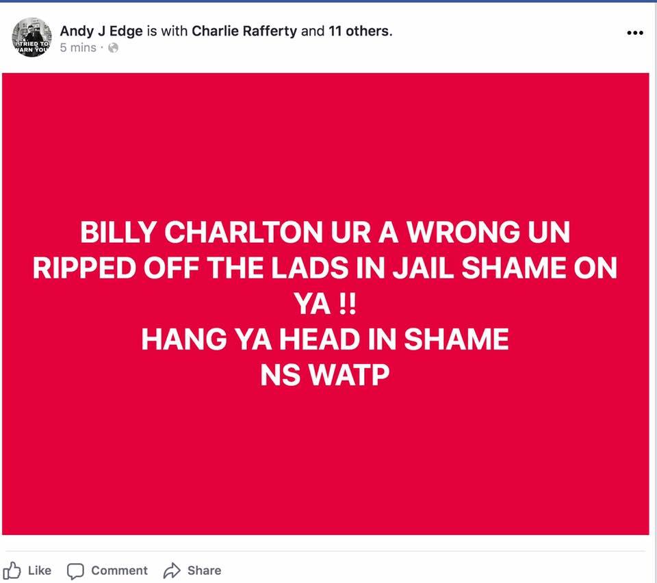 Billy Charlton thief