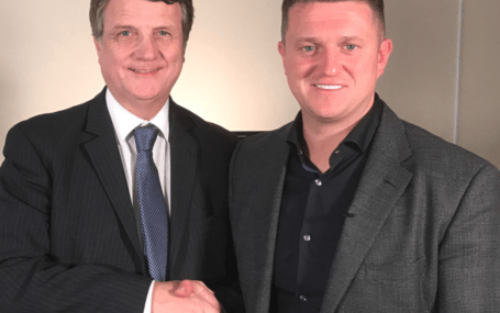 UKIP leader Gerard Batten (left) with EDL founder Tommy Robinson