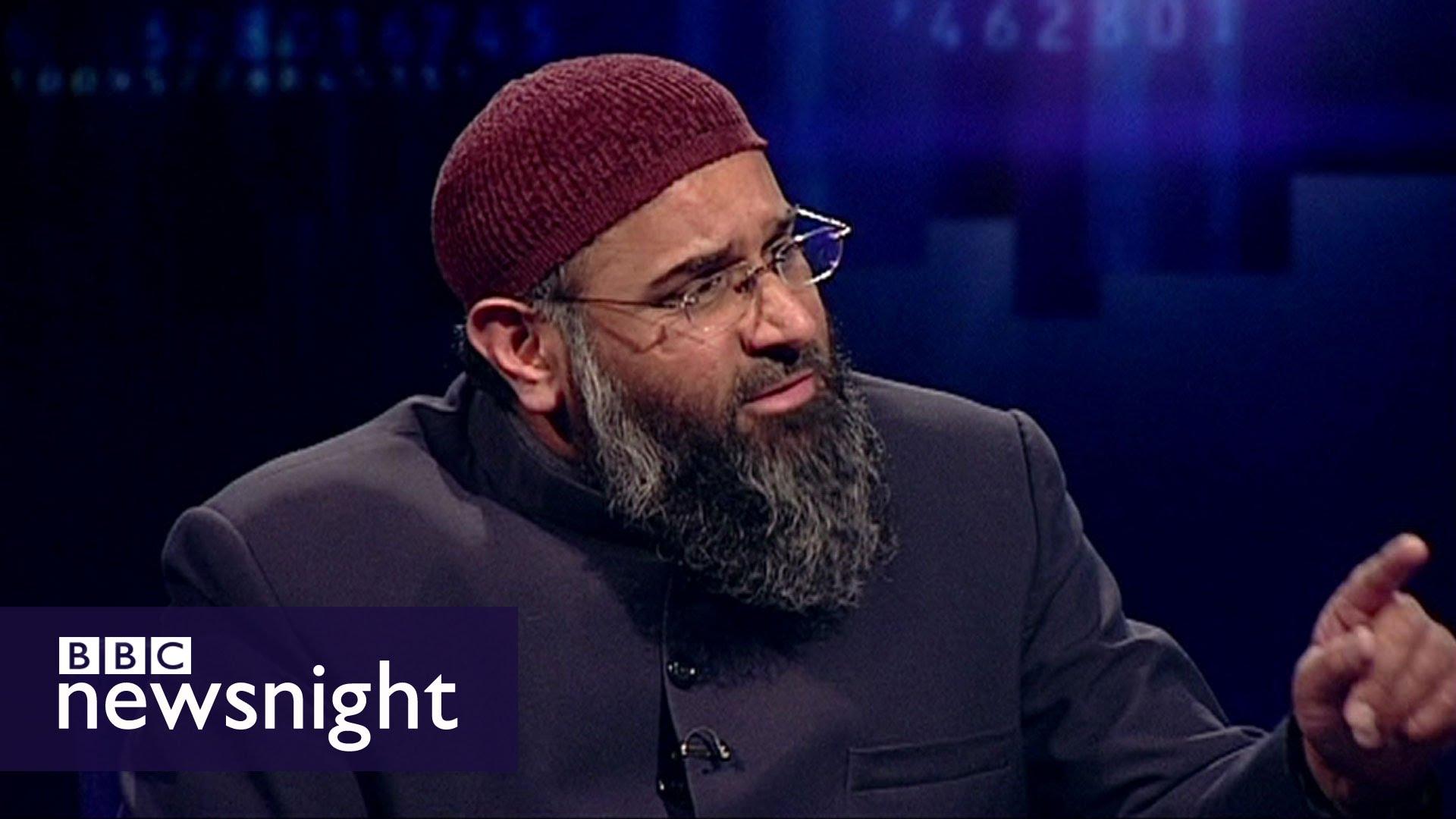 anjem choudary speaking on BBC's news night