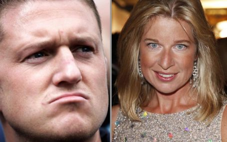 one picture of Stephen Yaxley-Lennon AKA Tommy Robinson looking thuggish and failed reality star-turned-far-right figurehead Katie Hopins