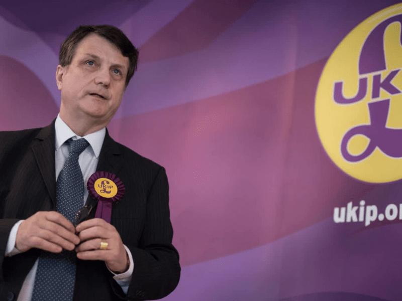 UKIP leader Gerard Batten speaking at the UKIP conference