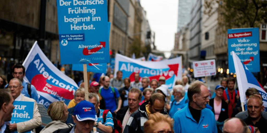 AfD demonstration in Düsseldorf