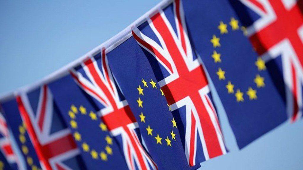 British and EU flag bunting