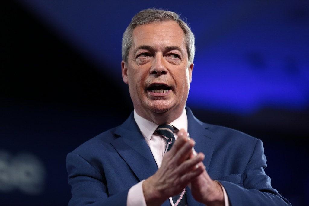Nigel Farage looking shifty