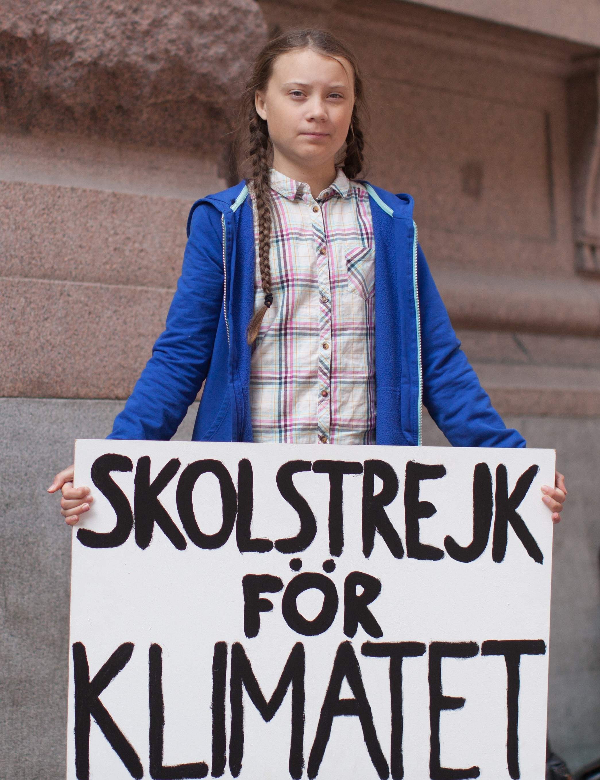 A picture of Climate Change activist Greta Thunberg