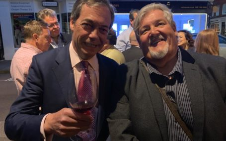 Andrew Garcarz (right) with Nigel Farage