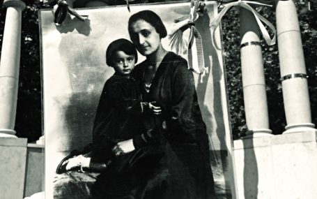 A photo of a woman holding her daughter