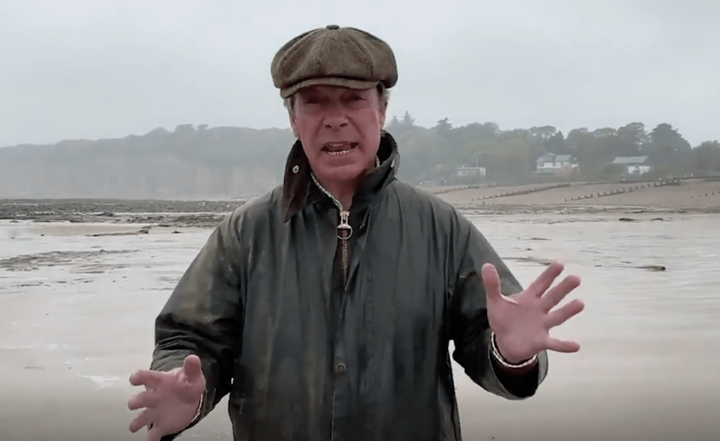Nigel Farage at Pett Level beach in East Sussex