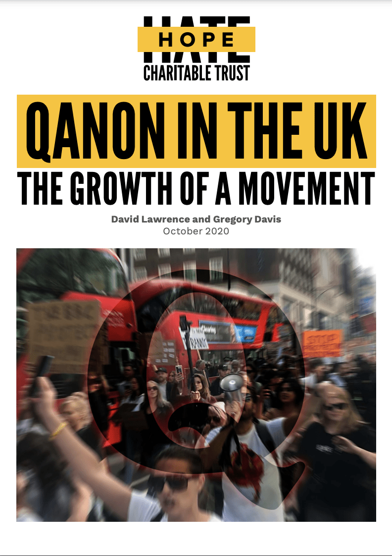 Cover of QANON In the UK: Growth of a Movement