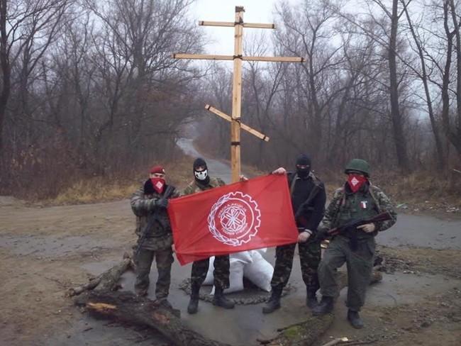 Serbian Action volunteers in Ukraine.