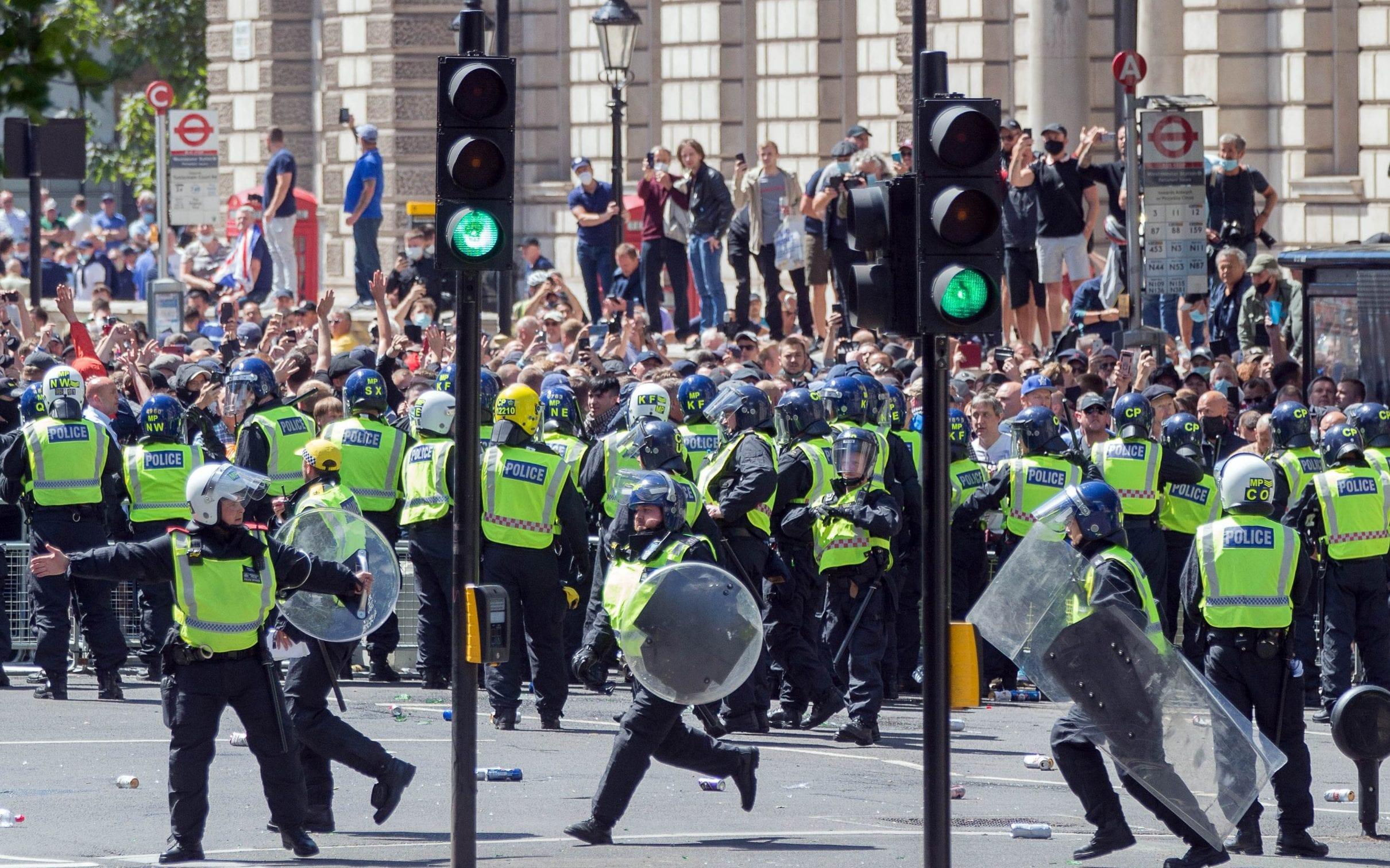 Far-right protest in London
