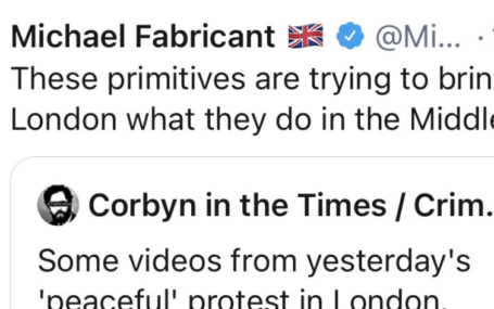 Offensive tweet by Michael Fabricant