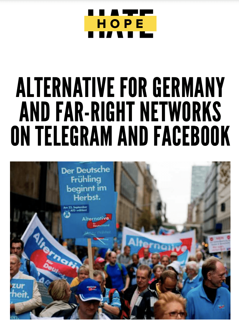 Alternative for Germany and far-right networks on Telegram and Facebook