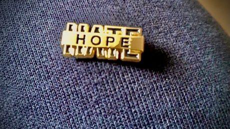 HOPE hate badge