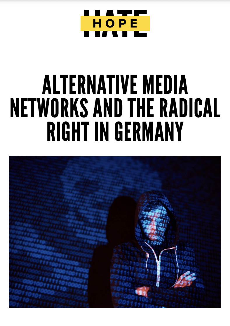 """Cover of the """"Alternative Media and the Radical Right"""" report"""