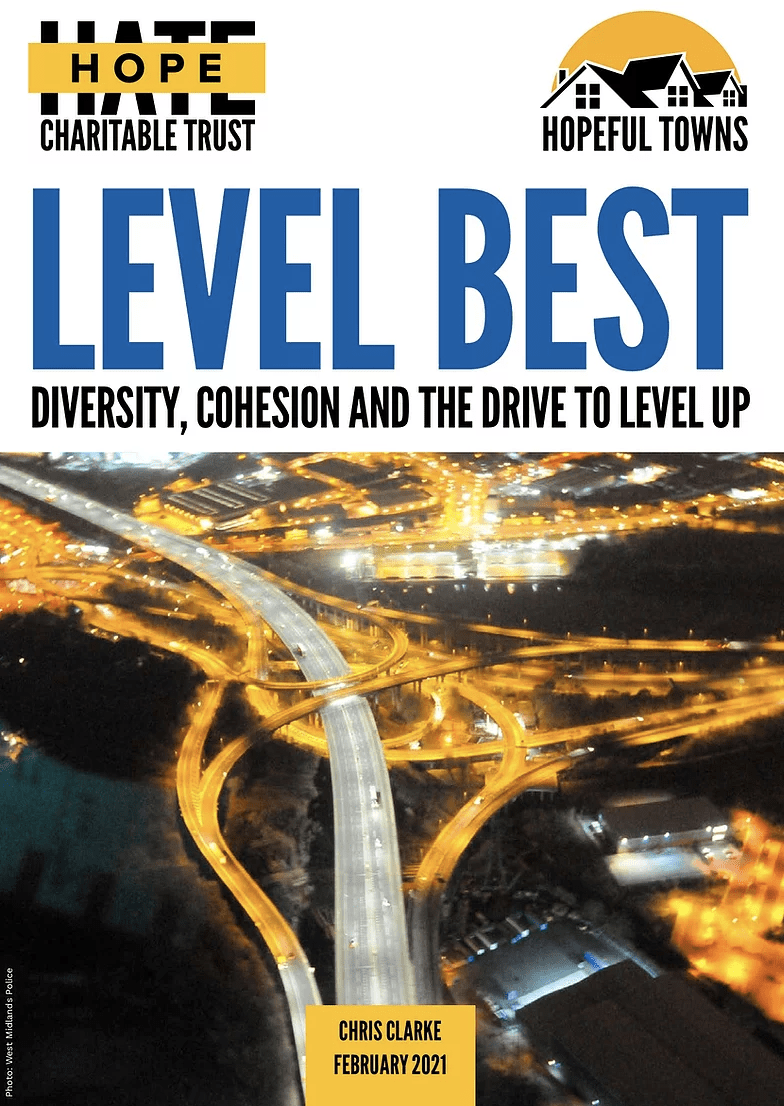 """Front cover of """"Diversity, Cohesion and the Drive to Level Up"""" report"""