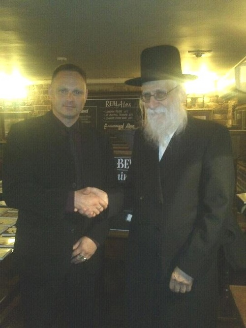 Troy Southgate with Rabbi Ahron Cohen