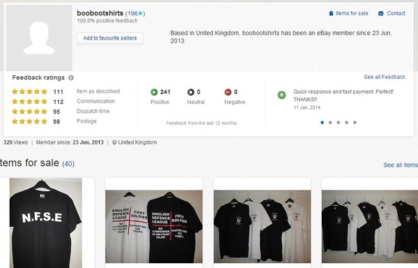 The EDL's ebay page