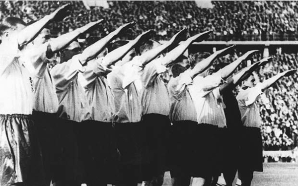 The England football in 1936